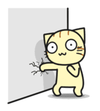 Teasing cat kuu sticker #9264684