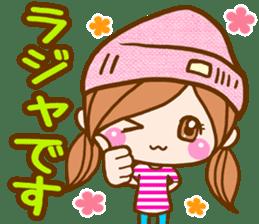 pretty girl 2  by rurue sticker #9272995