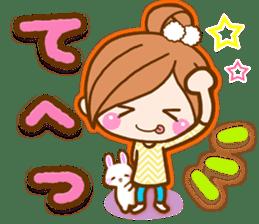 pretty girl 2  by rurue sticker #9273007