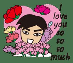 A warm man's words of love(English) sticker #9273306