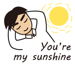 A warm man's words of love(English) sticker #9273312