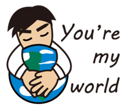 A warm man's words of love(English) sticker #9273313