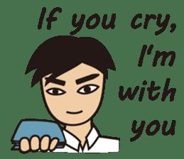 A warm man's words of love(English) sticker #9273329