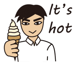A warm man's words of love(English) sticker #9273332