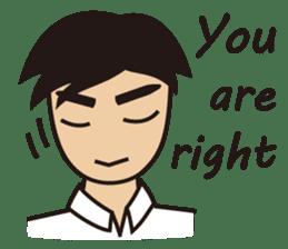 A warm man's words of love(English) sticker #9273335