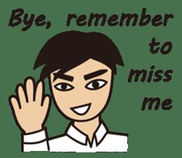 A warm man's words of love(English) sticker #9273341