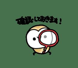Mamefuku of barn owl4 sticker #9279511