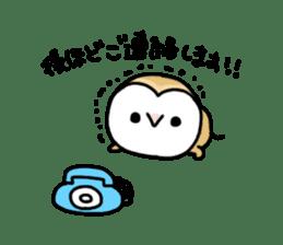 Mamefuku of barn owl4 sticker #9279513