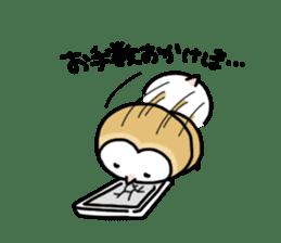 Mamefuku of barn owl4 sticker #9279516