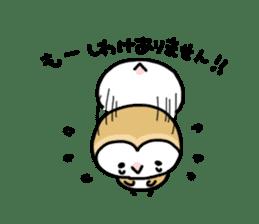 Mamefuku of barn owl4 sticker #9279518