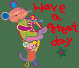 greetings, celebration ,thanks.by uenoai sticker #9281144