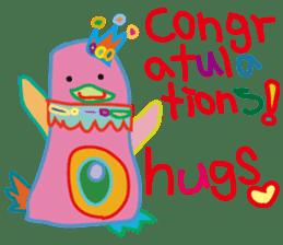 greetings, celebration ,thanks.by uenoai sticker #9281149