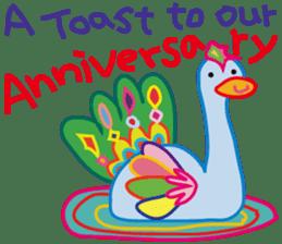 greetings, celebration ,thanks.by uenoai sticker #9281159