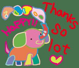 greetings, celebration ,thanks.by uenoai sticker #9281179