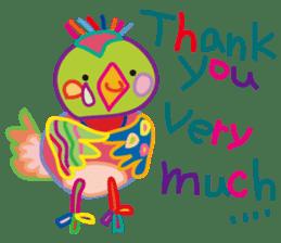 greetings, celebration ,thanks.by uenoai sticker #9281180