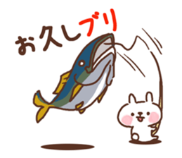 Little rabbit and father gag sticker #9293017