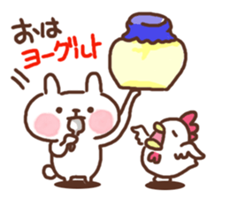Little rabbit and father gag sticker #9293019