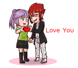 vampire in love (EN) sticker #9294319