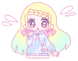 Dreamy KAWAII Girls sticker #9294734