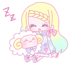 Dreamy KAWAII Girls sticker #9294742