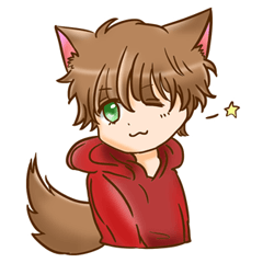 shy wolf sticker