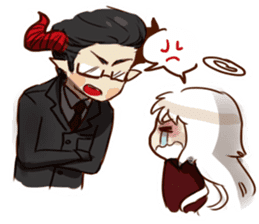 Demon Dad and the Dead Daughter sticker #9304287