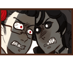 Demon Dad and the Dead Daughter sticker #9304298