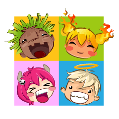 Four Funny Friends