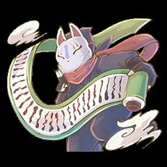 Ninja wearing a Mask of fox 2