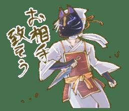 Ninja wearing a Mask of fox 2 sticker #9308706