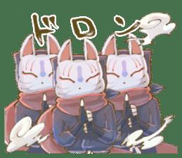 Ninja wearing a Mask of fox 2 sticker #9308707