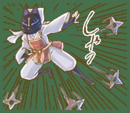 Ninja wearing a Mask of fox 2 sticker #9308710