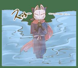 Ninja wearing a Mask of fox 2 sticker #9308714