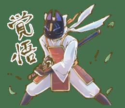 Ninja wearing a Mask of fox 2 sticker #9308718