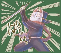 Ninja wearing a Mask of fox 2 sticker #9308719