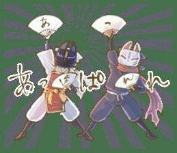 Ninja wearing a Mask of fox 2 sticker #9308720
