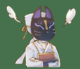 Ninja wearing a Mask of fox 2 sticker #9308726