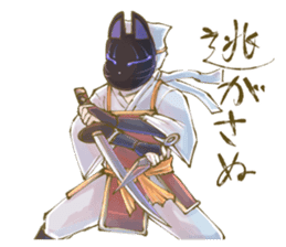 Ninja wearing a Mask of fox 2 sticker #9308731