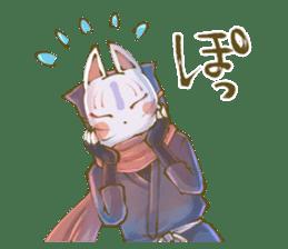Ninja wearing a Mask of fox 2 sticker #9308732