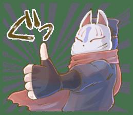 Ninja wearing a Mask of fox 2 sticker #9308741