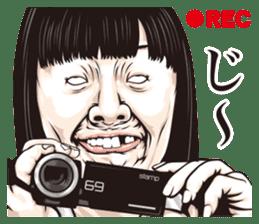 half-open eyes answer ver8 sticker #9314369