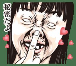 half-open eyes answer ver8 sticker #9314371