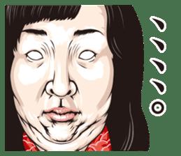 half-open eyes answer ver8 sticker #9314373