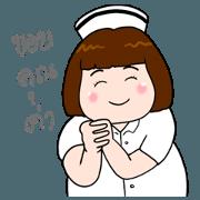 สติ๊กเกอร์ไลน์ พยาบาลน่ารักตุ้ยนุ้ย