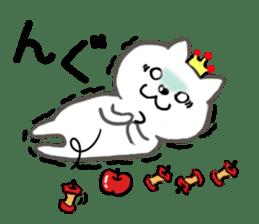 Cute cat princess sticker #9320693
