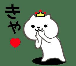 Cute cat princess sticker #9320708