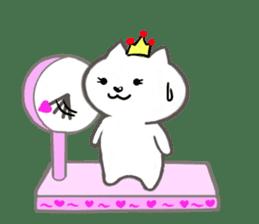 Cute cat princess sticker #9320722