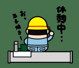 safety first working man sticker #9325752