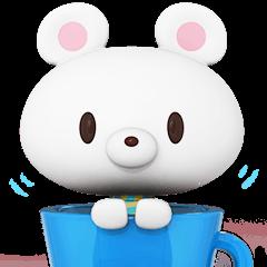 White Little Bear 3D