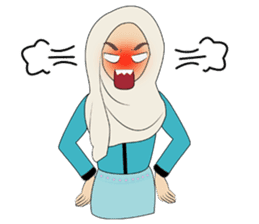 Miss Dua Hijabi cutie girl Eng.Version sticker #9337184
